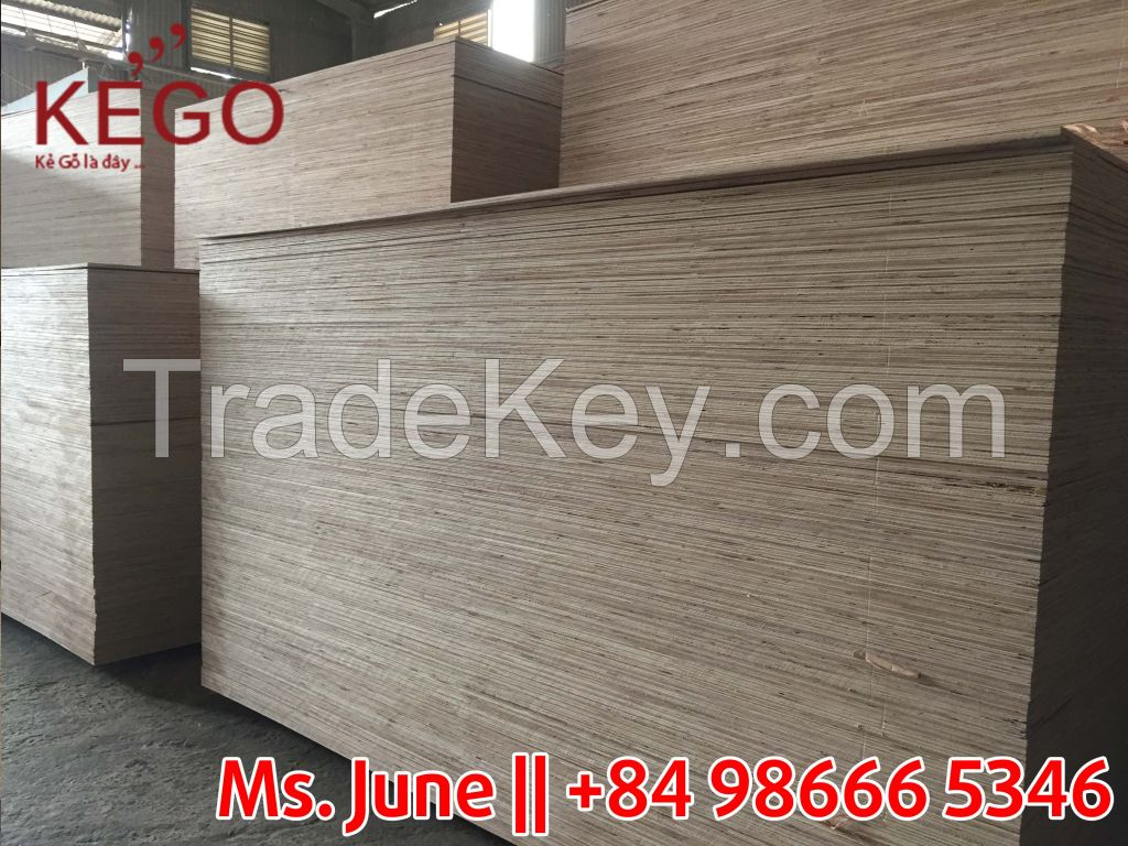 Good quality semi plywood with cheapest price from Vietnam