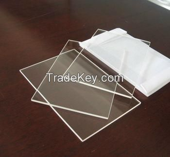 High transmission fused silica quartz glass polished plate of all shap
