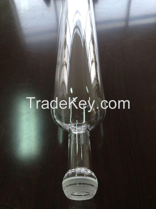 Clear quartz furnace tube or quartz tube with quartz glass ball head