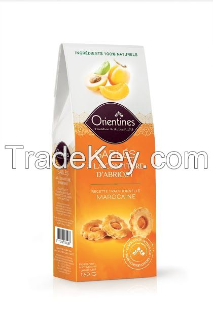 Butter Cookies (Sables) ~ Apricot Flavor