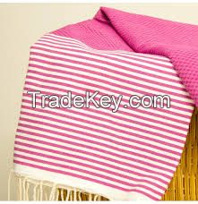 Fouta Turkish Bath (Hammam Spa) Towel 100% Cotton (Origin: tunisia) All colors