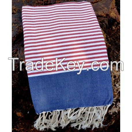 Fouta Turkish Towels (United States Flag) 100% Cotton (Origin: Tunisia)