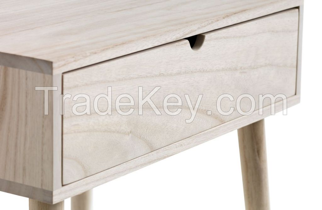 Bedside table American solid wood furniture simple natural color table