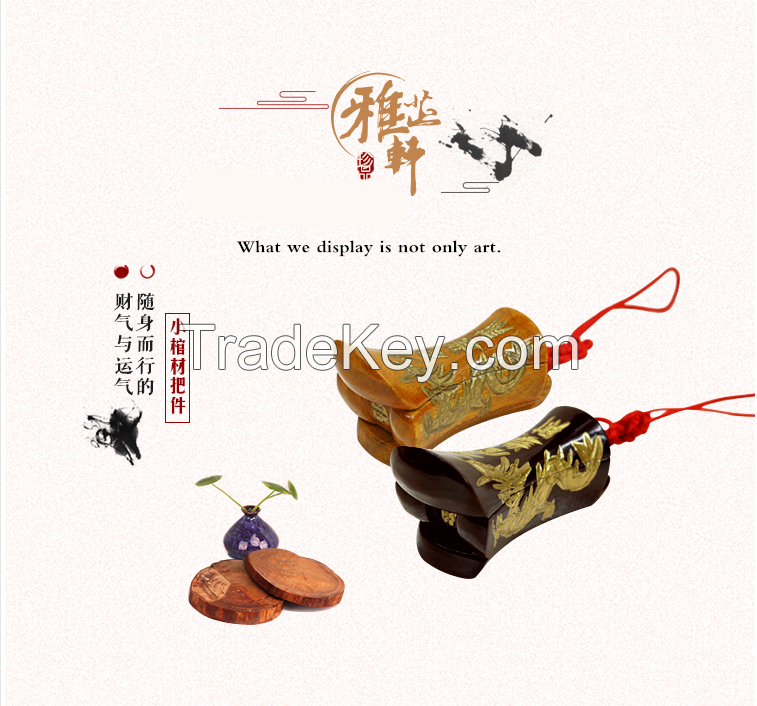 Yazhixuan Hot Sale Chinese Souvenirs  Antique Wood Carved Mini Liuzhou Keychain Coffin For Crafts