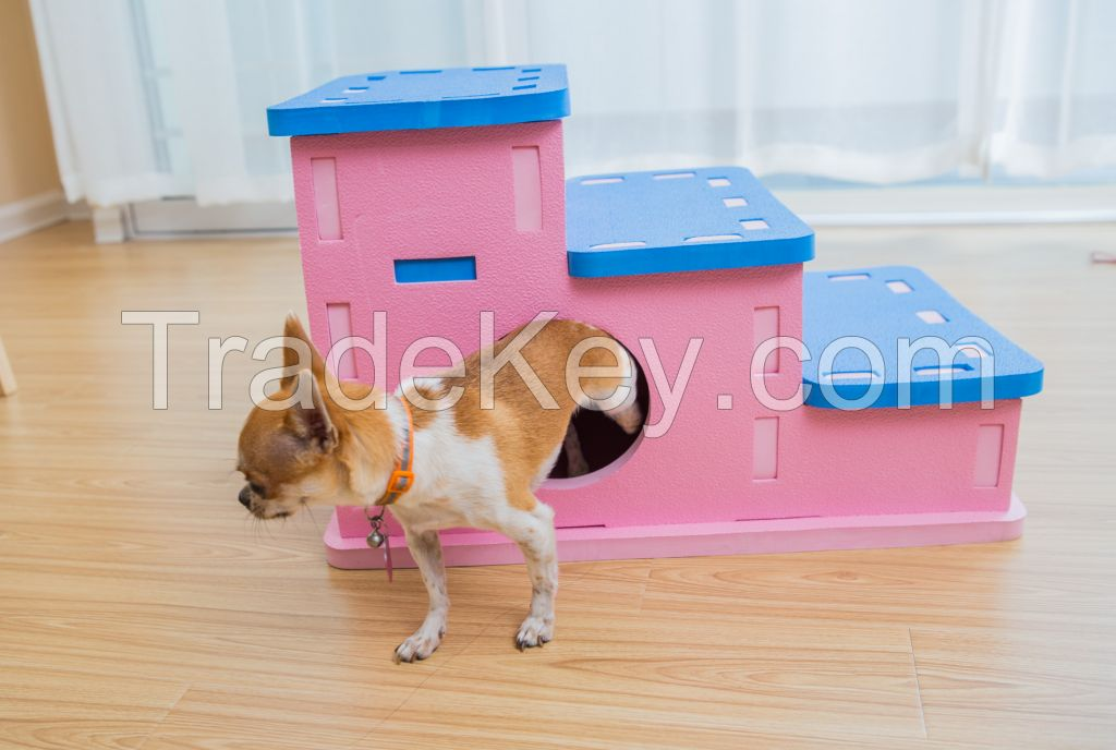 Meitoku New design pets puzzle interlocking toys , pets house
