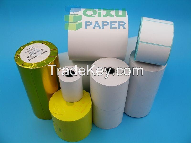 Supply Self-adhesive Barcode Sticker Label Paper Material Jumbo Rolls