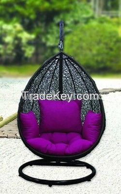 outdoor indoor wicker rattan swing garden furniture set
