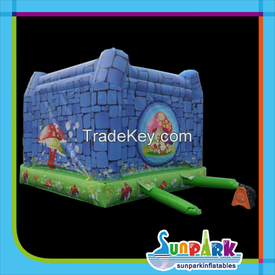 Kids Jumper Inflatable Combo Bouncers with Mushroom Theme
