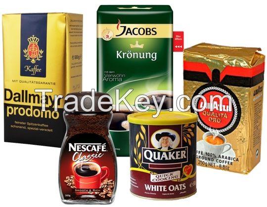 Jacobs Coffee, Nescafe Classic, Quaker Oats, Dallmayr