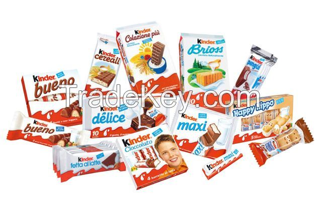 Kinder Joy, Kinder Bueno, Kinder Surprise, Kinder Chocolate