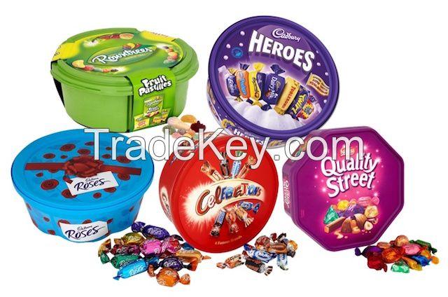 Quality Street Chocolate Bars, Heroes, Mars Celebrations, Roses Chocolate Bars