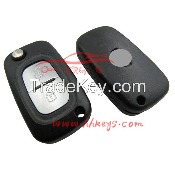 Renault flip remote key shell fobs custom 2 buttons 2.5 renault car keys