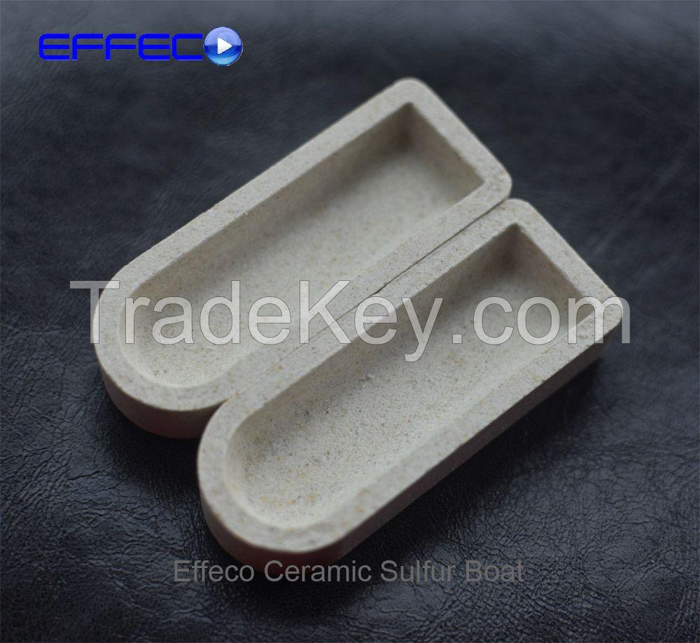 Ceramic boat for sulfur analysis leco 529-204 eltra 90153