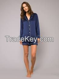 Short Silk Pajamas Set