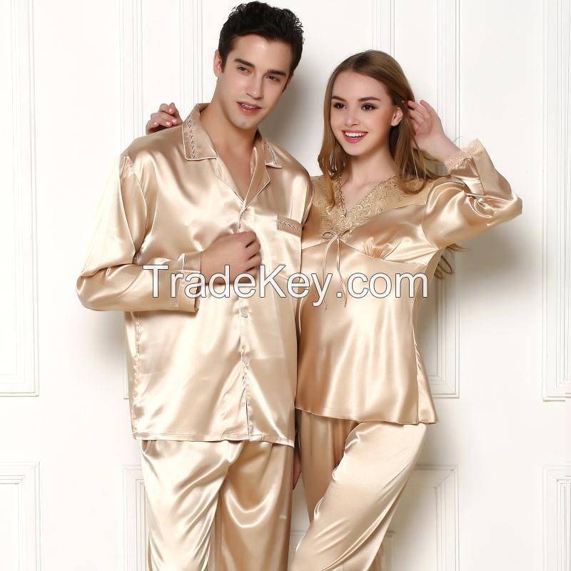 Silk Pajamas For Couple