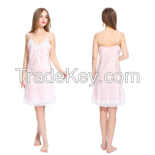 Silk Chemise With Gentle Gathered Chest