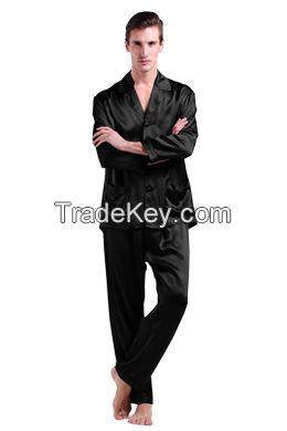 Short Sleeve Silk Pajamas Set For Men