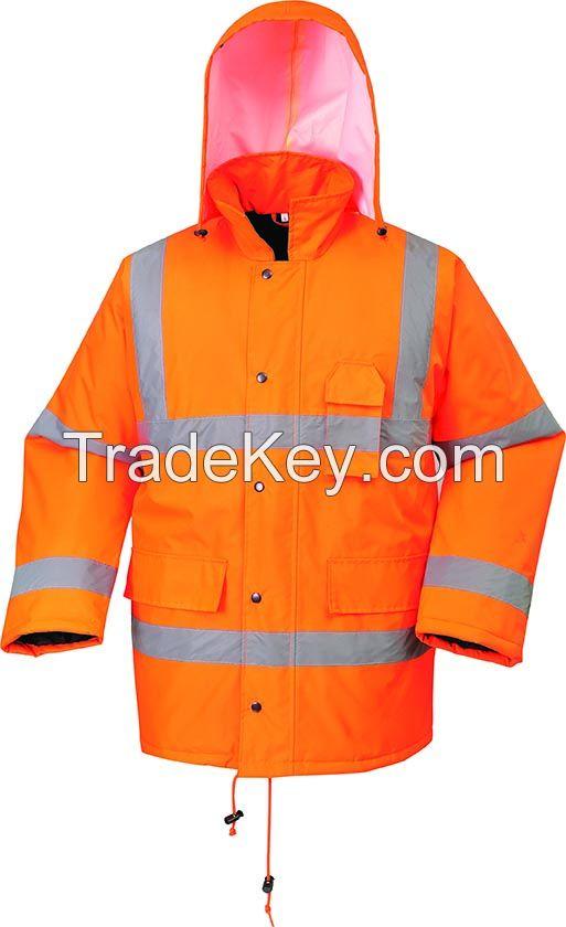 Waterproof and Breathable Hi-vis Safety Jacket