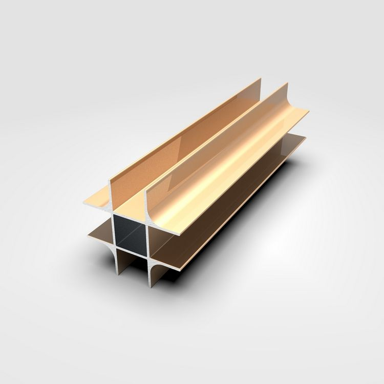 6000 Series Aluminum Extrusion Furniture Profile Section For Kitchen Door