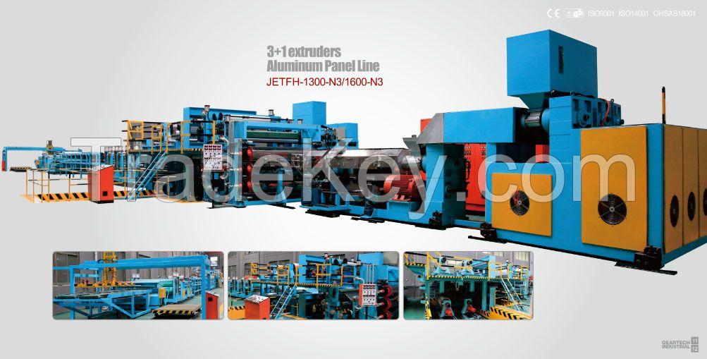 3+1 aluminum composite panel production line