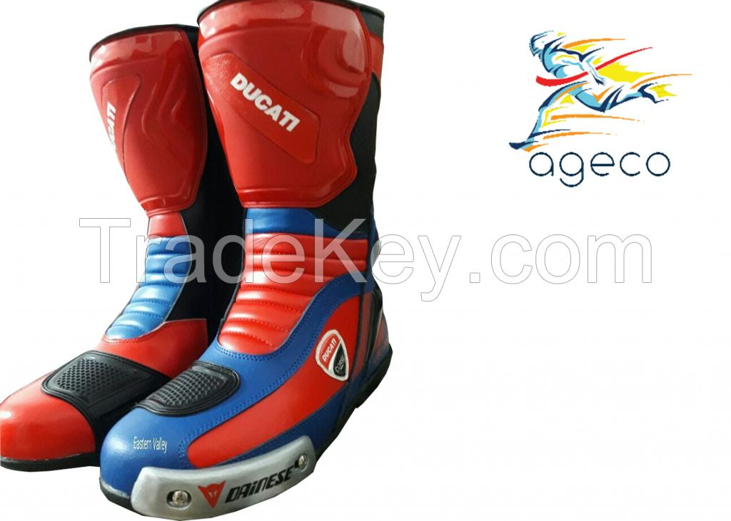 Motorbike Leather Shoes Motorcycle Racing leather boots