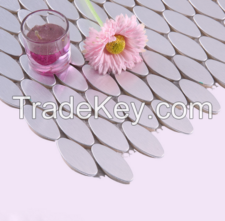 Fashion Designs Elliptical Aluminum Mosaics Tiles 25 Years Foshan Manufacturer