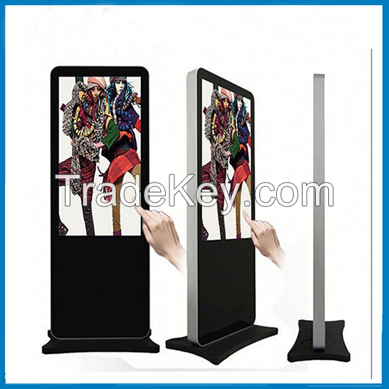 Shopping mall / Office building / hotel Digital Signage Advertisting Player, Foor Stand Advertising Display Kiosk