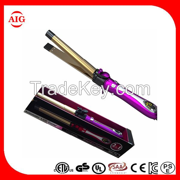 Automatic 2 in 1 hair curling iron