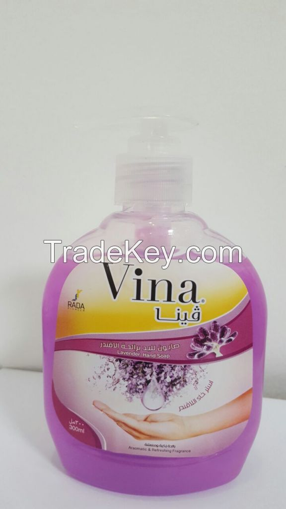 VINA hand wash, fabric softener ; TREXI dish wash, glass cleaner