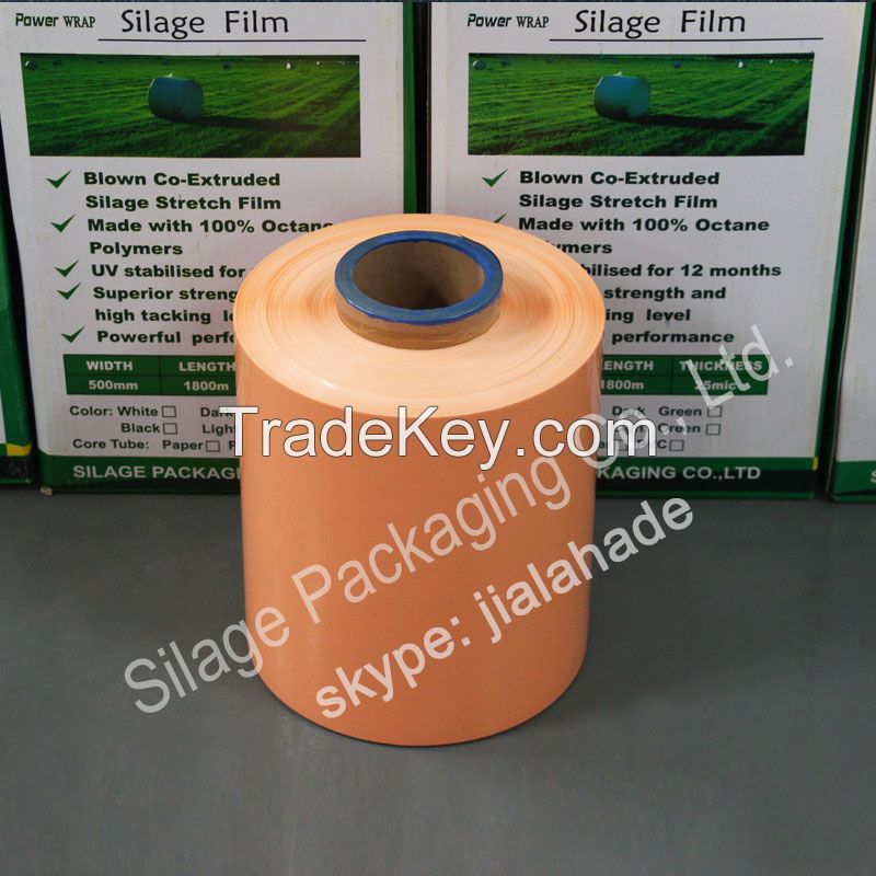 250mm*25mic*1800m,hot sale black silage film,safe packing film for forage,silage black film,plastic silage film for CANADA