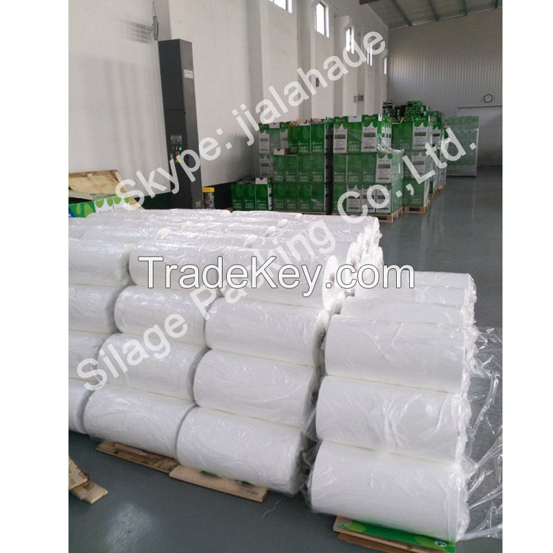 Black/Orange Silage Film,500mm25mic1800m, Recycle 100%LLDPE Film for Germany Farm Packing