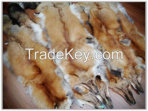 Red fox fur skins from LEOSKIN FURS