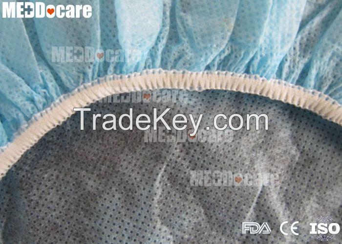 Disposable Non Woven Mop Mob Clip Cap Surgical Medical Round nurse Bouffant Cap