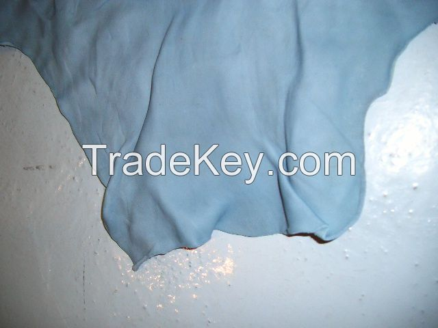 Wet blue cow and goat hides