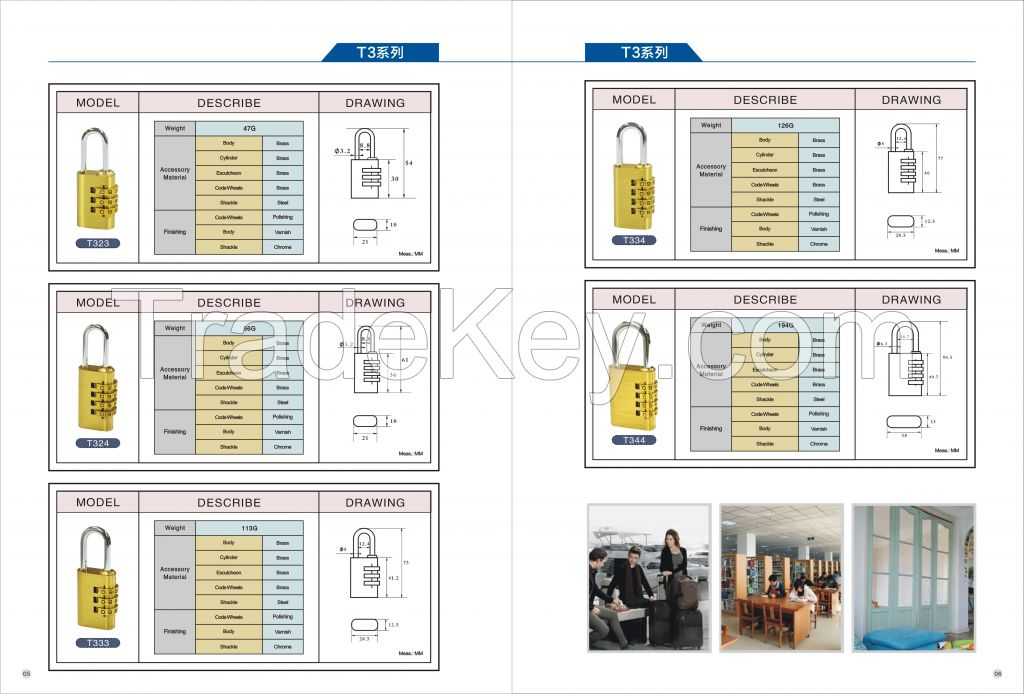 Combination brass padlock best quality by  Shandong Keep Intl Trading Co.Ltd