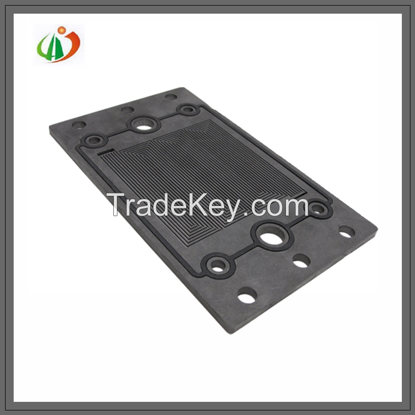 Graphite bipolar plate for hydrogen PEM fuel cell