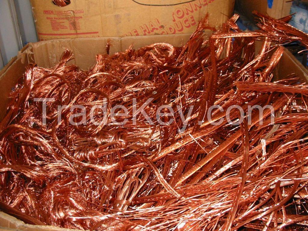Copper Wire Scrap / Millberry Copper Scrap 99.99% for sale