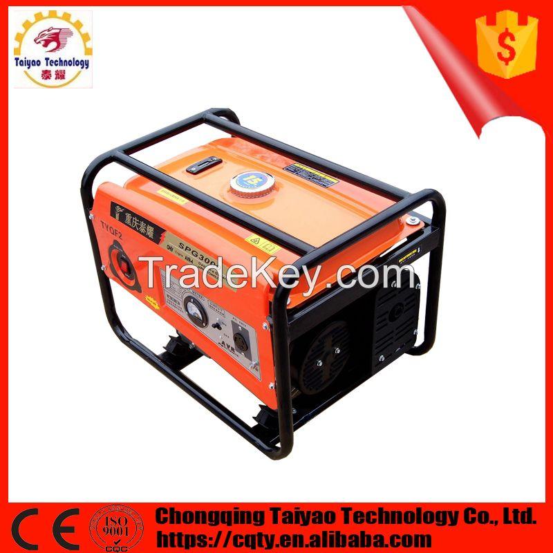 Portable 168F powered 2kw manual starting gasoline generator