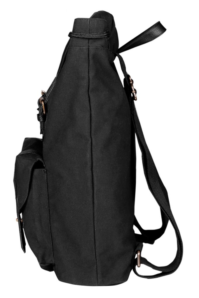 Heavy Canvas Mens' Backpack (Black)