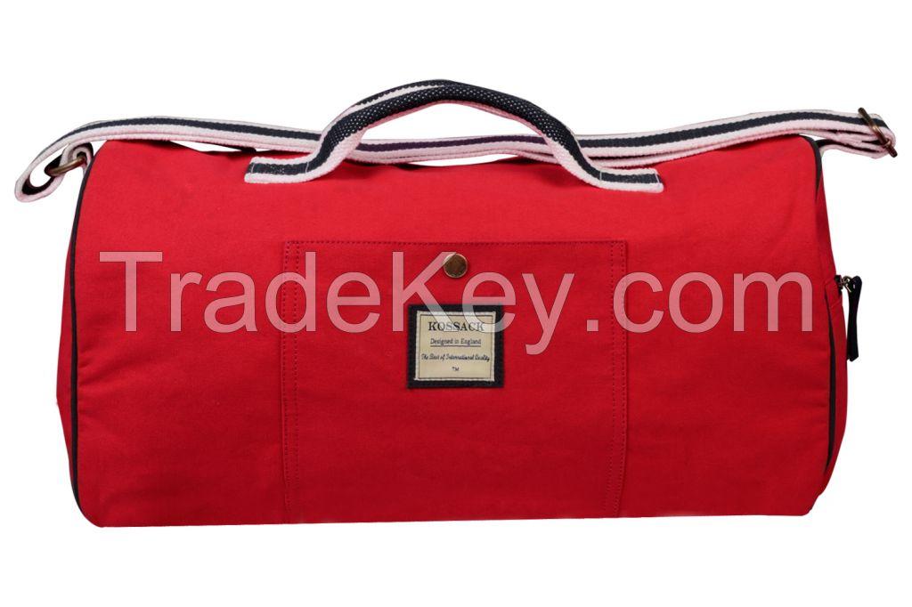 Red Color Canvas Duffel Bag