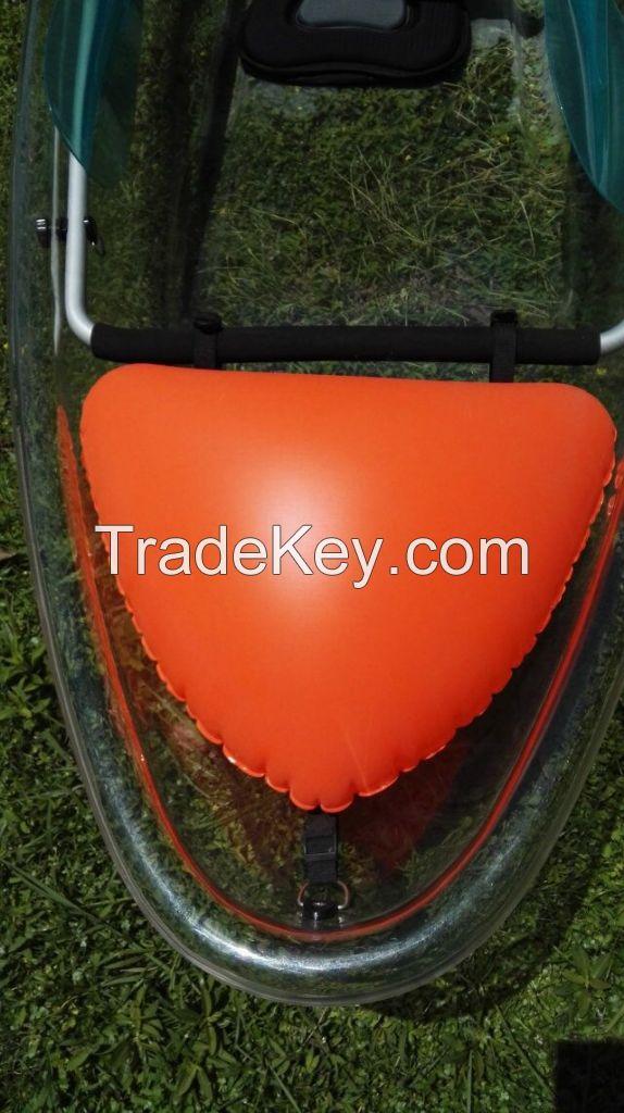 Fishing plastic clear canoe kayak