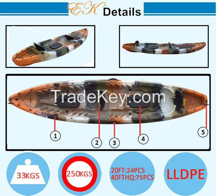 kayak fishing boat / quality kayak / UV resistant, high-grade polyethylene kayak