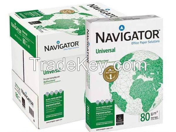 A3/A4 COPY PAPER - 100% WOODEN PULP OFFICE PAPER BRANDS - DOUBLE A, NAVIGATOR, XEROX, HP, PAPERONE 70GSM/75GSM/80GSM/90GSM/100GSM