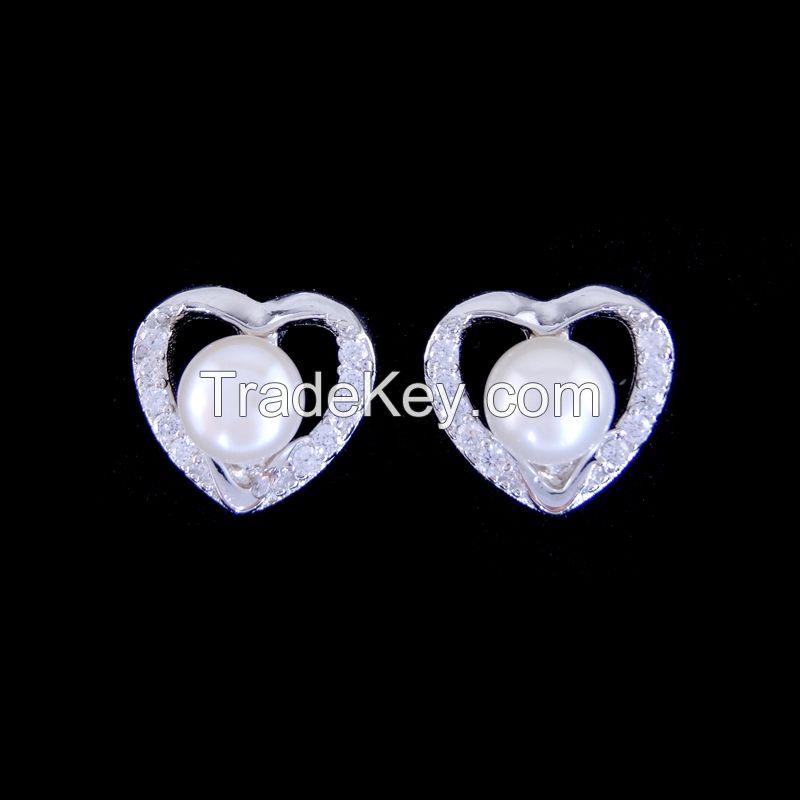 925 Sterling Sliver Earring(CZ stone)