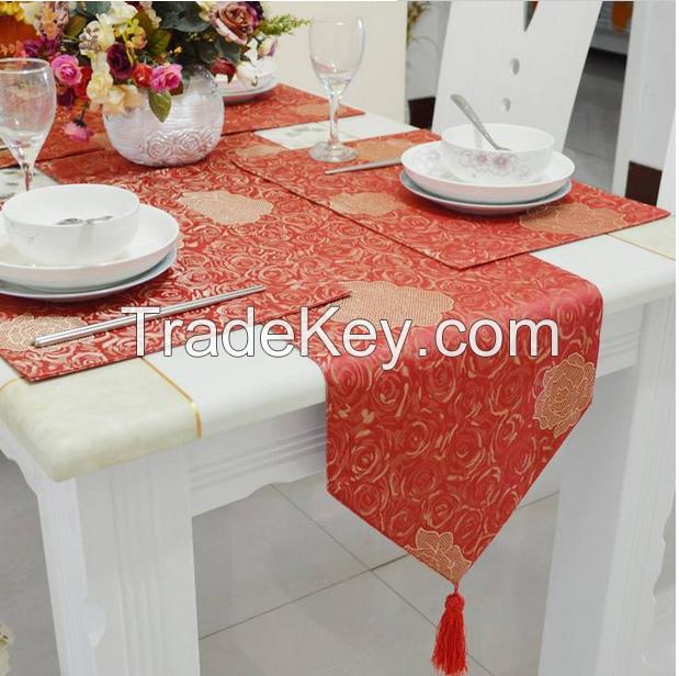 Jacquard Table Runner Table Cover For Wedding Restaurant Table Decoration