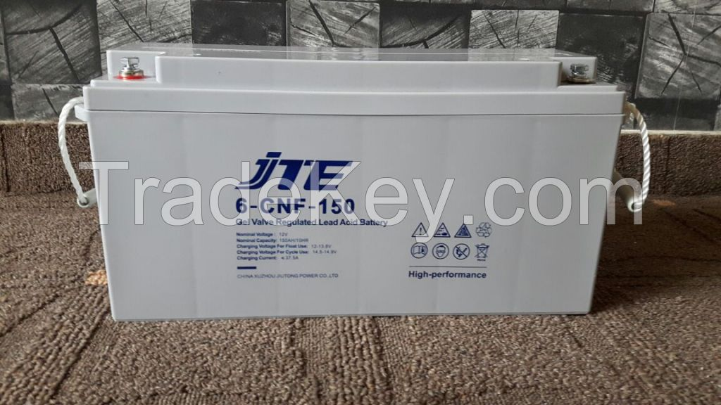 JTE Polymer gel Dry Maintenance free VRLA battery