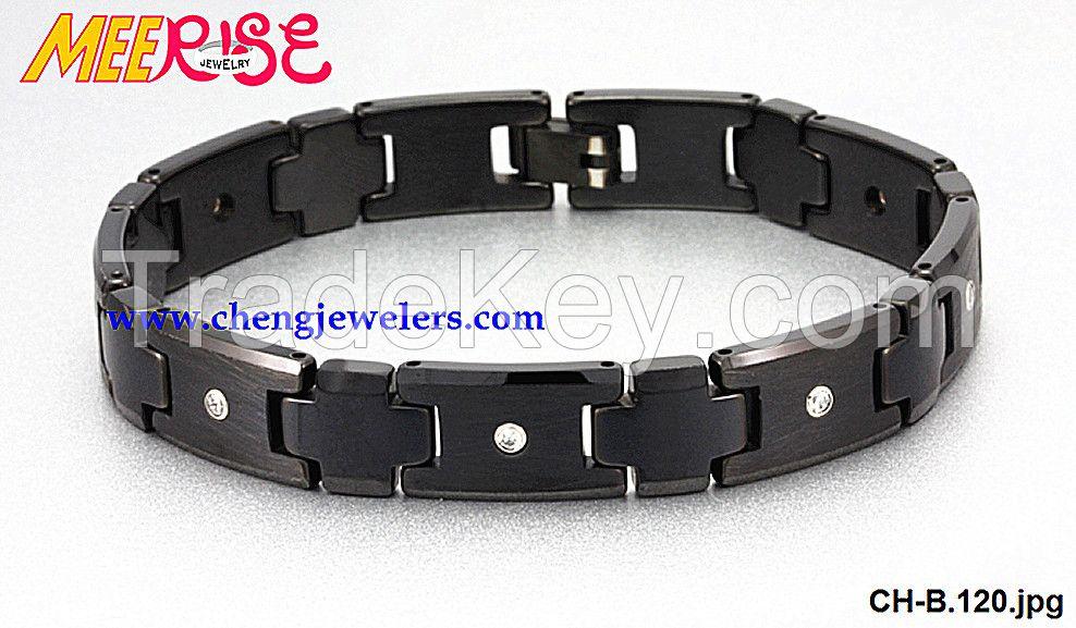 NEW design stylish TUNGSTEN BRACELET,mens jewelry bracelet,cicret bracelet with CZ