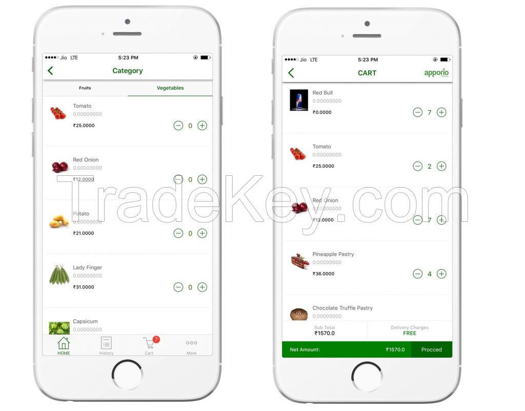 Apporio Grocery eCommerce - Launch Your Own
