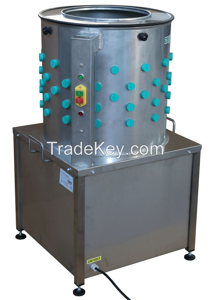 Poultry plucking machine, chicken plucking machine - Made in Italy - Stainless Steel