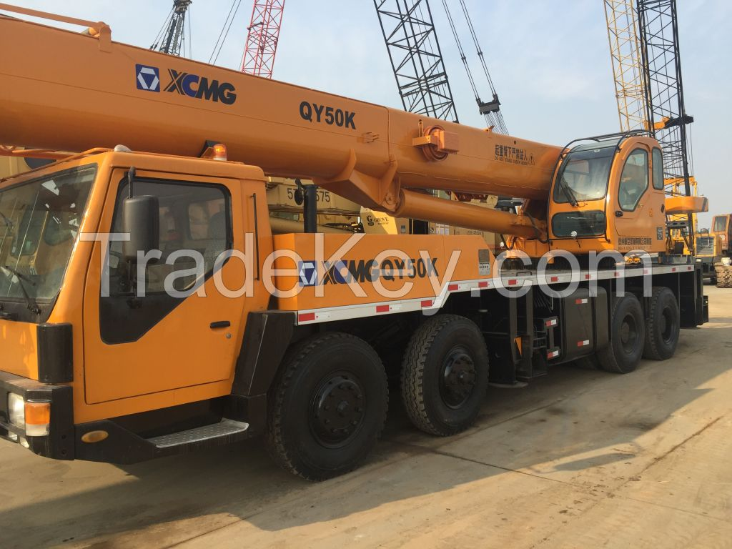 2012 model good condition XCMG QY50K truck crane